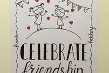 handlettering vriendschap