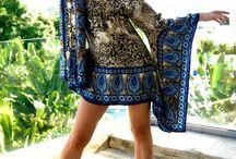 Платье с красивым принтом из шёлка