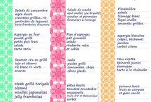 grilles de menu inspiration