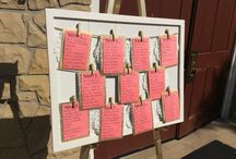 Seating Charts and Place Card Tables