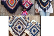 Бабушкин квадрат. Granny  square. Fashion sweatshirts from a square.