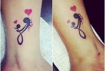 Mom amd daughter tattoos