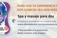 Promociones / Promociones en la clínica dental sobre tratamientos de ortodoncia, ortodoncia invisible o transparente, implantes y periodoncia o enfermedades de encías.