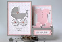 Cards: Baby Stampin' Up! / Baby Cards using Stampin' Up! products.  Visit my blog for tips, techniques and free PDF's for your handmade crafts. http://stampcrazywithalison.ca canadian stampin up demonstrator, stampin' up!, handmade crafts, rubber stamping, DIY, card making, papercrafts