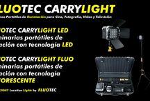 CARRYLIGHT LED FICHAS TECNICAS / FLUOTEC simplifica su línea de luminarias de locación portátil y la unifica bajo la marca CARRYLIGHT  CARRYLIGHT ES LA NUEVA MARCA y LINEA de SISTEMAS DE ILUMINACIÓN PORTATIL PARA USO EN LOCACION DE FLUOTEC  Esta línea se divide a su vez en 2 (dos) opciones de tecnologia: Luminarias LED y Luminarias FLUORESCENTES FLUO  CARRYLIGHT es: Luminarias portátiles de locación Iluminación de Alta TECNOLOGIA por FLUOTEC