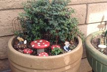 FAIRY GARDEN IDEAS AND SMALL GARDEN IDEAS / by Jeanne DuBrasky