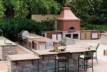 Outdoor Kitchens / Bring your cooking, entertainment, and gatherings outdoors with an outdoor kitchen.