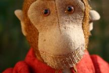 Vintage sock monkeys / Handmade and vintage