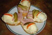 chlebíčky - chuťovky a pod.