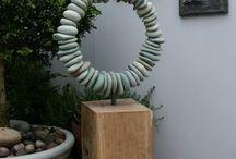 Holz und Stein Skulptur