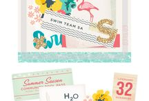 Saltwater Smiles, Big Fluffy Clouds & Sorbet brain Freeze 2015 kits / May/June 2015 Quirky Kits