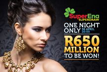 SuperEna SuperDraw / Enter the SuperEna SuperDraw and you could win a Jackpot of R650 MILLION! Taking place on Saturday April 30th, 2016, this is definitely something you do not want to miss out on. Register NOW and bet to win: https://lottostar.co.za/game/superena-superdraw/