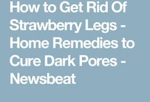 How you get rid of strawberry legs