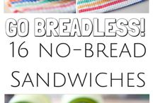 Breadless sandwiches