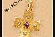 Bardi's Creations / Handmade Gold Cross
