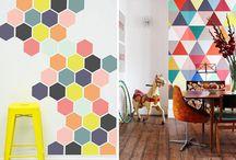 Paredes pintadas / Las paredes no tienen que estar pintadas de un solo color.