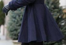 Téli ruha szettek / Téli ruhaszettek nőknek; kabátok, nadrágok, pulóverek harmóniája