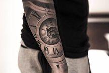 Tatouages Horloge