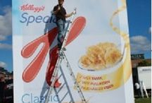 Billboard Advertising / Cool and modern advertising techniques using stylish digital billboard.