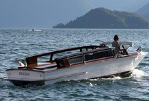 Bellagio water taxis / Beautiful open wooden boats for taxi and tours. Group tours in english