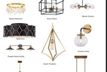Modern Light Fixtures / Bring glamour and drama into house with gold and black accents