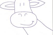 Girafas / Moldes desenhos apliques