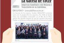 La Gaceta de CoCEF / Inauguramos una nueva sección #LaGacetadeCoCEF en la que nos ponemos en la búsqueda de las empresas familiares argentinas con más antigüedad, y nos encontramos con Delfino que cuenta con más de 180 años de trayectoria. Nos gustaría que nos contaran qué empresa familiar conocen Uds.