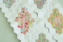 Hexagon Love / A love of hexagons, particularly English Pieced Patchwork