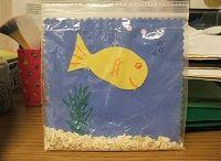 Fisch im plastikbeutel