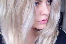 Couleur blond blanc