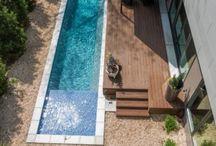 Lap pools decks
