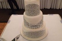 Wedding cake / Unique hand beaded bling wedding cake!