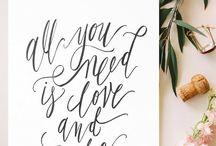 ❥ modern calligraphy