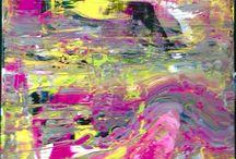Peinture abstraite / Peinture acrylique sur toile