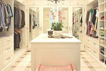 Dream Closet / Everything you need to know about organizing your dream closet.  Learn how to hang your clothes and store your shoes with these closet ideas.