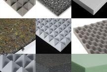 Materiales aislantes acústicos y térmicos / Materiales para acondicionar térmica y acústicamente espacios, bares, casas, salas de concierto, discotecas.