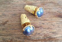 Private Acessories / Earings #GoldAndBlackPearl