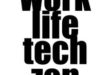 """work life tech zen / We are constantly seeking the elusive """"balance,"""" aren't we? We want more """"zen"""" in our work and our lives. I believe that thoughtful choices about the technology we use and how we use it can bring us closer to a flow that is less stressful, less overwhelming,  less confusing. Here are some of my blog posts written with these ideas in mind."""