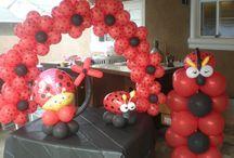 Lady Bug Balloon Decor