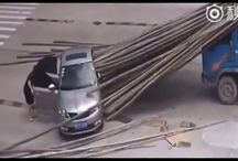 Viral Video - VIDEO - Couple Survives After Car Gets Pierced By a Truck-load Of Bamboo