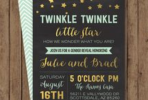 Twinkle Twinkle Little Star gender Reveal Party / The Gender reveal party for our first little one with a star theme