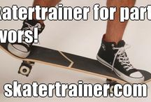Skateboard Birthday Party Ideas / Find fun ideas here for your child's skateboarding birthday party. Everyone there could practice skateboarding with #skatertrianer! www.skatertrainer.com #birthdayparty #skateparty #kidsbirthday #skateboard #skateboardcake