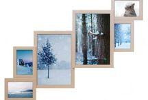 Деревянная рамка на 6 фото Метровая лесенка
