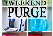 PURGE PURGE PURGE! / This board is dedicated to helping to decide what to keep and what to get rid of.  Clear away the chaos!