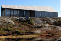 Cabins, architecture and interior design