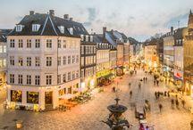 Köpenhamn (Copenhagen)  även Århus och Fredrikshamn- Danmark / Köpenhamn som jag sett 3 ggr. Norra Jylland rundtur på 70-talet