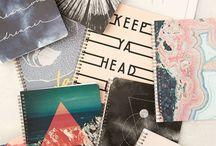 cuadernos decorados/con frases