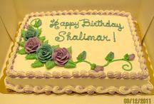 Birthday sheet cakes