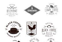 logo lettering et image