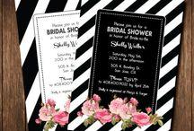 Black & white Invitation / Invitation wedding